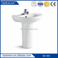 TM909 home OEM ceramic small sink pedestal children surface wash basin for bathroom kid