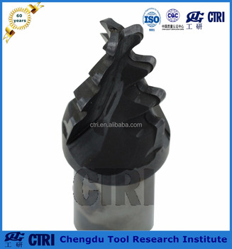 non-coating solid carbine longitudinal milling cutter for turbine root and for turbine rotor