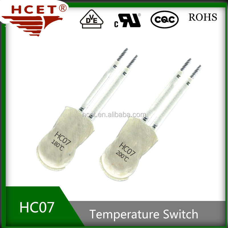 temperature detect switch, switch, HC07, used in pet pad, heating pad