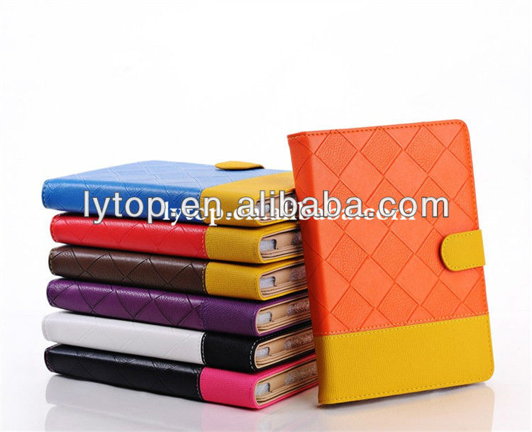 Couple Color wallet style tablet Leather Case for iPad mini