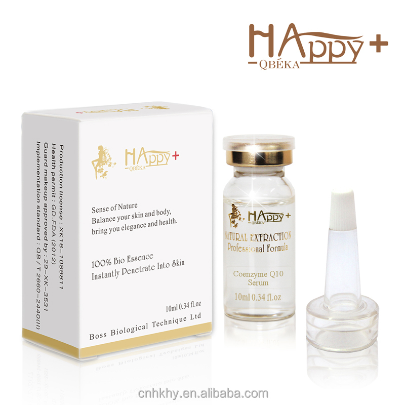 Happy+ QBEKA Skin Care Private Label Coenzyme <strong>Q10</strong> Ageless Instant <strong>Face</strong> Lift Halal <strong>Serum</strong>