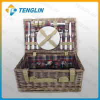 2 Person Wholesale Wicker Picnic Basket