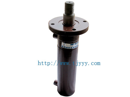Double acting hydraulic cylinder for tipper trailer