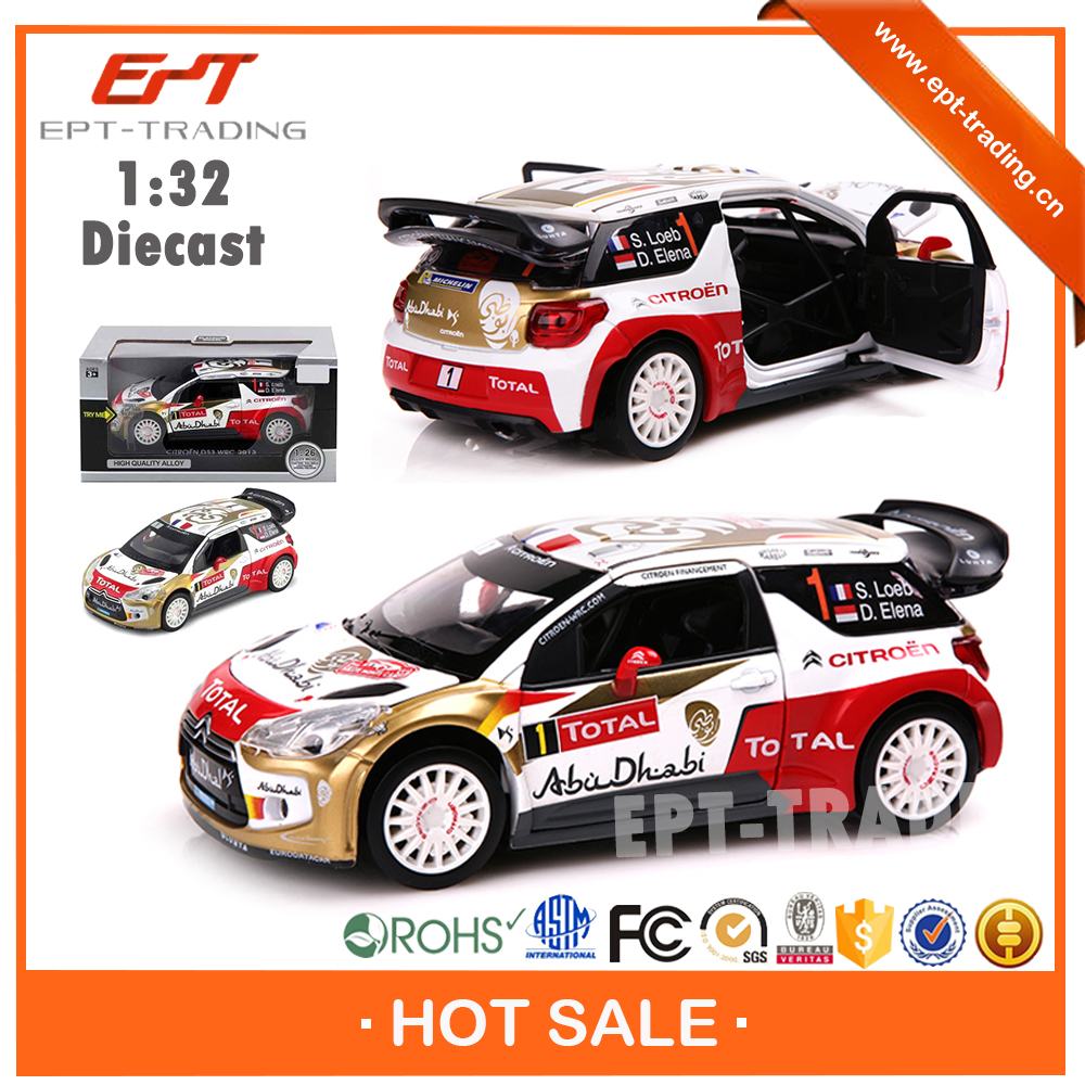 Hot selling 1 : 32 scale licensed mini diecast model car with light and sound