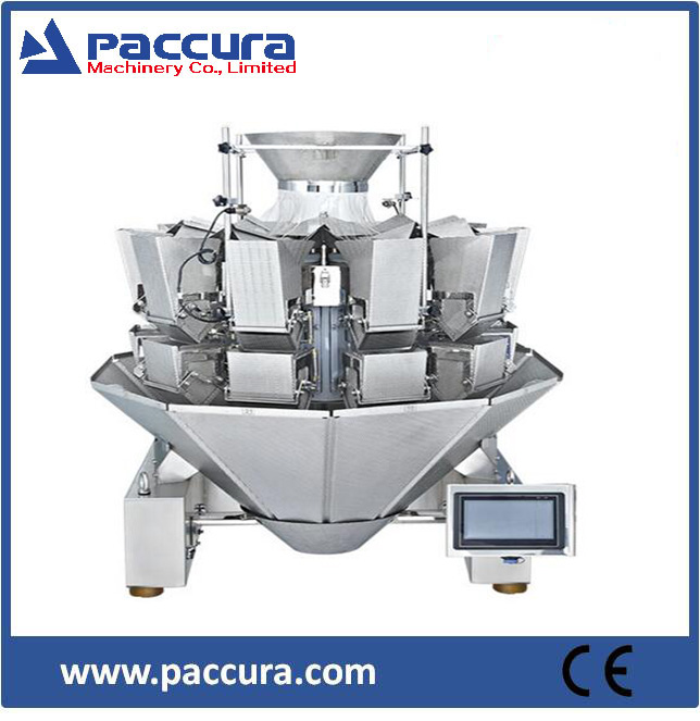 Multihead weigher for frozen fooods/packaging machine