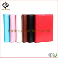 2014 stand up leather case for apple mini ipad