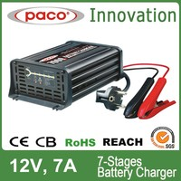 7 Stage Car Battery Charger for Calcium, Gel, AGM Batteries