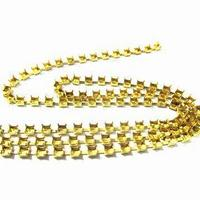 wholesale jewelry chain type 8mm crystal rhinestone brass empty cup chain