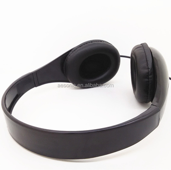 new design black color directly music cheap headphone for MP3 player