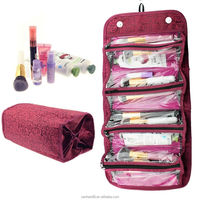 Cute Multifunction Travel Cosmetic Makeup Case Organizer Pouch Toiletry Zip Wash storage bags