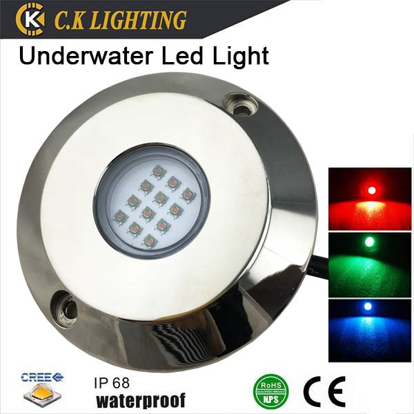 Remote Control IP68 Waterproof LED Underwater Light RGB 60w led underwater marine light