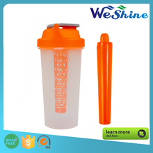 BPA Free Plastic Protein Blend Shake Bottle with Blending Core