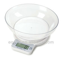 AS-X8027B Digital Food Scale, white platform with measuring cup