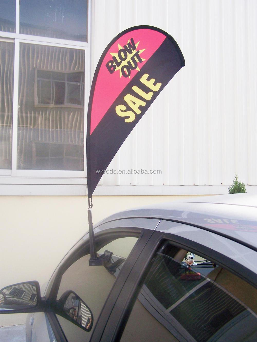 Cheap Wholesale Price Promotional Car Window Car Flag