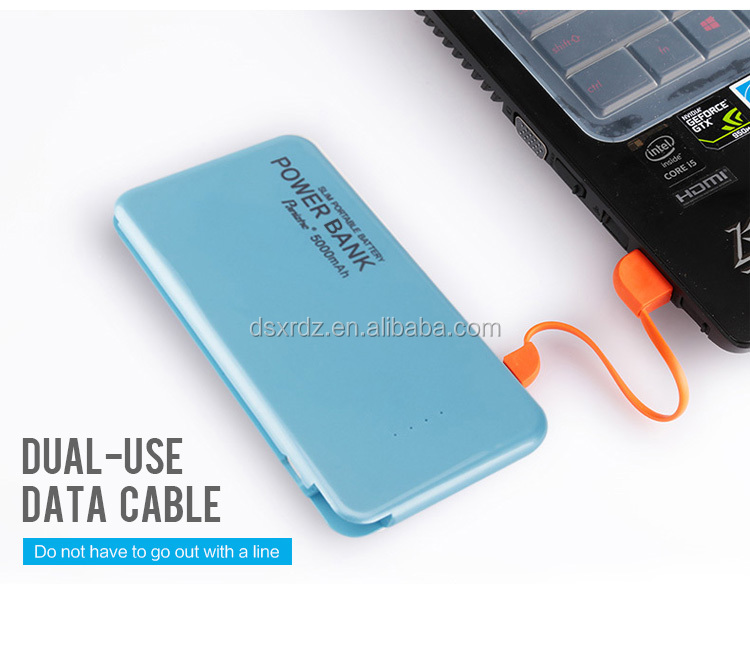 Logo can be Customized portable power bank 5000 mah portable battery charger mobile power bank