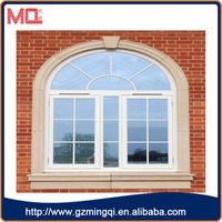 French style commercial exterior double glazed windows with grill design