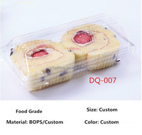 Beautiful disposable transparent plastic cake/fruit/cookie box, small plastic food container.