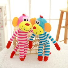 Customized Animal Monkey Shape Cotton Rope Pet Toys For Cat And Dog