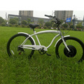 Modified beach cruiser electric bike with easy e bike wheel kits