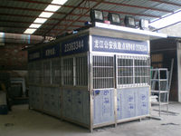 2014 HUIDA customized top quality stainless steel security guard booth prefabricated house manufacturer