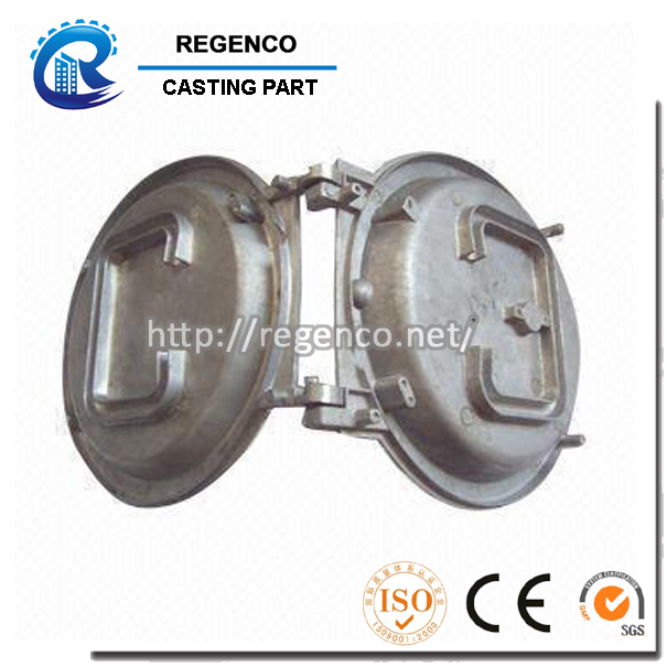 Die Casting for Dome Cover, Made of Aluminum A380, Spray Surface Treatment