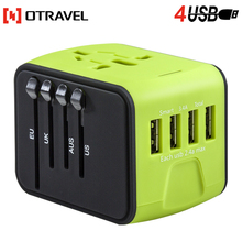 Otravel new design universal travel adapter, electrical socket plug with USB charger