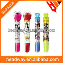 new cartoon pattern Water color pen with stamp