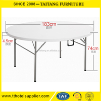 Round Plastic Outdoor Folding Picnic Table Sale