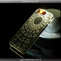 New Ultra-thin Transparent LED Call Flash Light case Cover for iphone 5 5s MT-1697