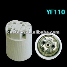 Chinese cheap electronical plug ,white porcelain lampholderE40 YF110 ceramics socket