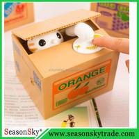 Steal Money Cat Plastic Mischief Saving Box Money Box itazura Coin Bank
