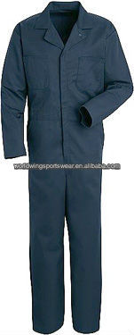 Mens custom navy blue polyester cotton useful work uniform