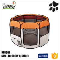 AnJi KaiFeng hot selling dogs products type garden foldable polyester dog puppy playpen exercise playpens