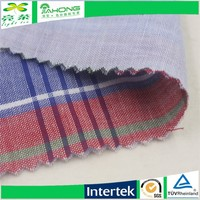 Mill price double layer yarn dyed plaid fabric for ladies summer dress