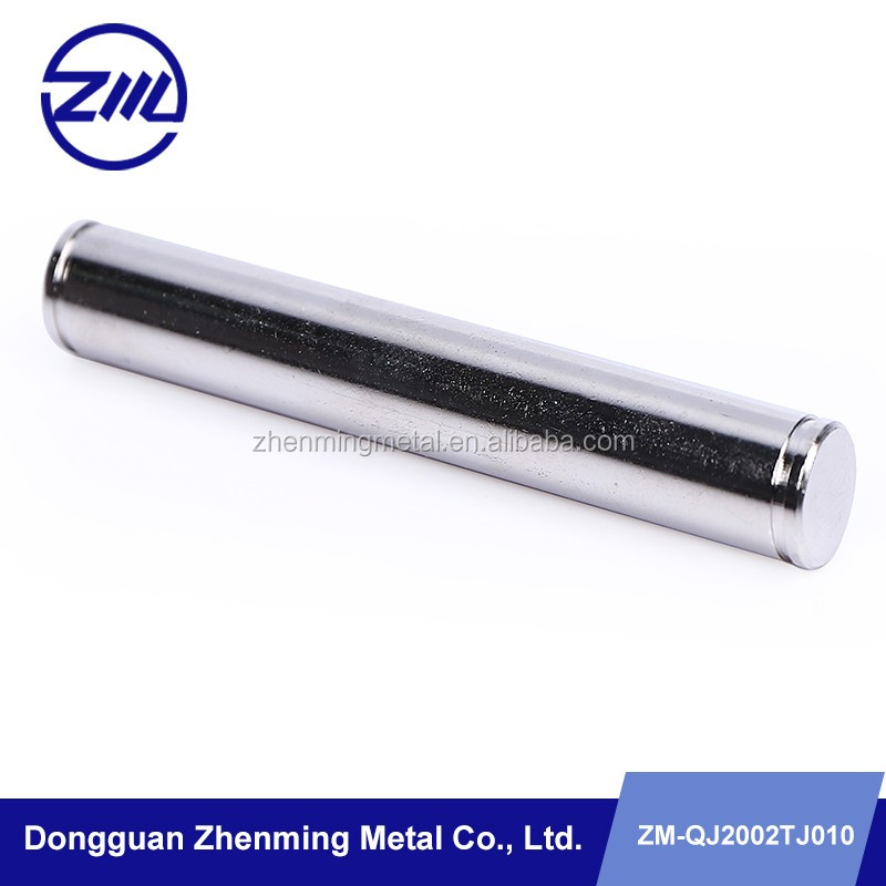 Custom steel solid rod , cnc spare part , oem pin roller for cleaning machine