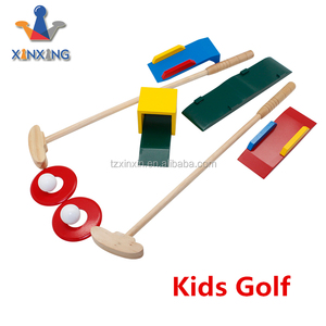 Classic game puzzle wooden croquet toy kids garden game child wood golf outdoor games
