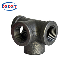 Malleable cast fitting iron pipe fitting black side outlet tee for DIY furniture