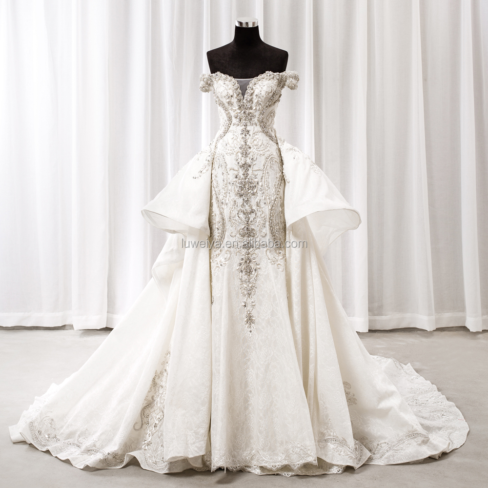 Guangzhou Bling Bling Detachable Skirt Wedding Dress Ball Gown ...
