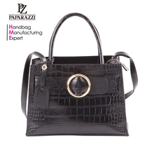 5531 Fashion PU woman elegant vegan leather satchel handbag with shoulder strap, wholesale ladies bags