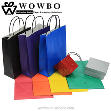 Colorful cheap shopping custom kraft paper bag wholesale