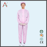 Anti-static ESD workwear smock for clean room in chemical factory