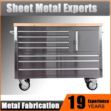 Industrial Steel Workbench mobile, garage rolling metal drawers
