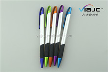 Coloring metal pen with gripper with high quality in proper price