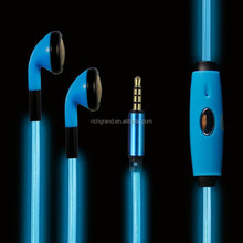 For iphone 6/5/5s/5c 3.5mm LED light up visible glowing in-ear earphone headphone