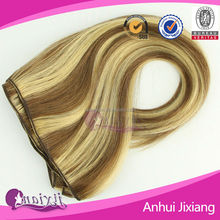 2016 new products wholesale, silk straight, remy hair side by side hair extensions