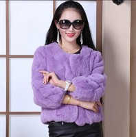 2014 hot selling rabbit fur jacket/the real rabbit jacket/winter rabbit coat for women