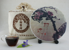 Chinese painting packed Puer ripe cooked tea