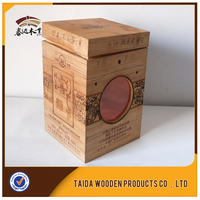 Unfinished Wood Box For Wine Packaging With Handle /Gift Box