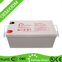 Excellent discharging ability 12v200ah high capacity AGM GEL battery for solar power system