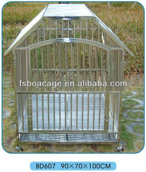 Stainless Steel Dog Cage 90X70X100cm